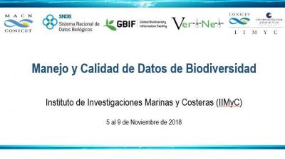 C18 - SNDB  Manejo y Calidad de Datos de Biodiversidad - Mar del Plata, Argentina - 2018